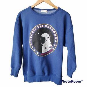 Zara Boys Astronaut Sweatshirt Size 11/12